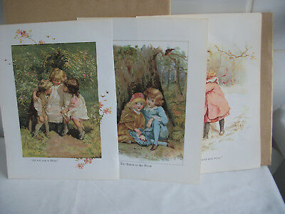 Mixed bookplates from Childrens Nursery Rhymes book Ref 4 story, Babes, North wi