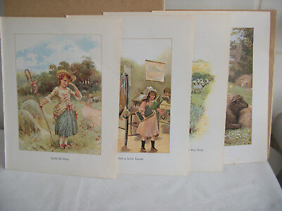 Lot of mixed bookplates from Childrens Nursery Rhymes book Ref 3 Sheep
