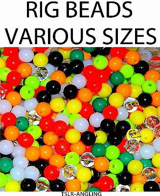 Sea Fishing Tackle Rig Making Beads  - All Colours , Sizes, Styles - Rigs Pike