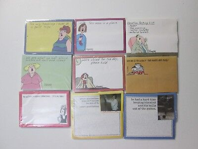 40 sheets: Mini Self-Stick Removable Notes, New, 9 styles available