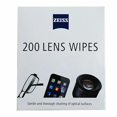 ZEISS Pre-Moistened Lens Wipes ideal for Glasses Camera Phone Cleaning 400Ct New