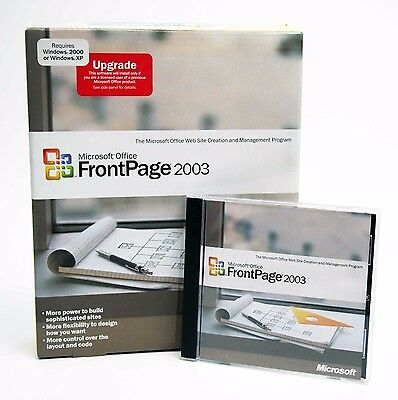 "Microsoft FrontPage 2003 Upgrade ed, bonus ""FrontPage 2003: the Missing Manual"""