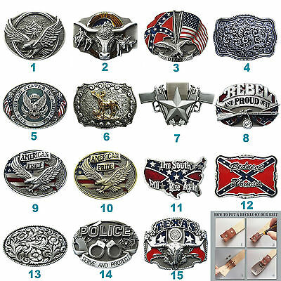 Eagle Deer Western Southwest Belt Buckle Mix Styles Choice also Stock in US
