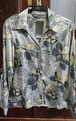 True vintage Bluse new neu mit etikett silk viscose -