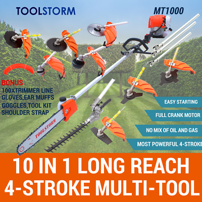 4-STROKE Pole Chainsaw Hedge Trimmer Saw Brush Cutter Whipper Snipper Multi Tool