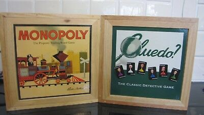 Monopoly Cluedo Vintage Reproduction 1930s In Wooden Boxes