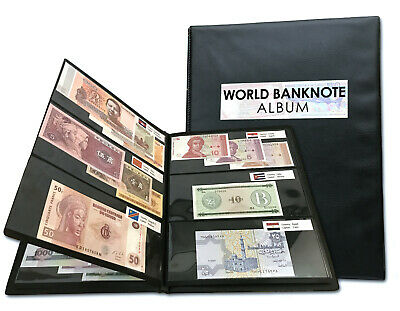 ALBUM 100 PCS Different World Banknotes 52 Countries Genuine Currency Notes UNC