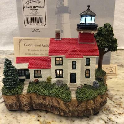 Harbour Lights HL451,Grand Traverse, Michigan , w/original Box, COA GLOW