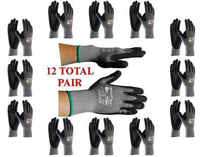 GTek MaxiFlex 34-874 PIP Seamless Knit Nylon Gloves - 12  Pairs - Choose Size!
