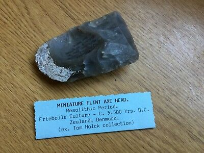 Mesolithic Flint Axe Head Ertebolle Culture Zealand Denmark 5,500 B.C. Ex Holck