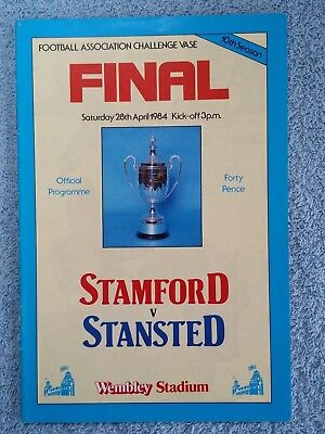 Fa Vase Final 1984 Stamford V Stansted With Ticket 100 Picclick Uk