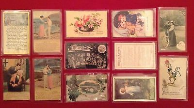 Bulk Lot 42 Vintage Postcards Topo, Military, Greetings. All 42 postcards shown.