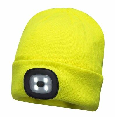 Am-TECH BEANIE 60LM LED USB RECHARGEABLE HEADLIGHT HEAD TORCH HAT VARIOUS USE