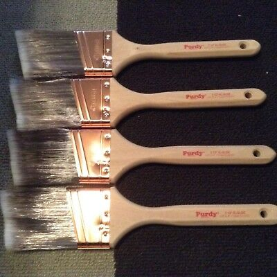 "Lot 2 1/2"" XL Glide  - 4 Angled Purdy Paint Brushes - New never used"