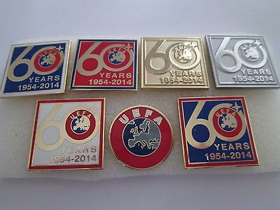a2 lotto 7 spille UNION OF EUROPEAN FOOTBALL ASSOCIATIONS uefa spilla pins lot
