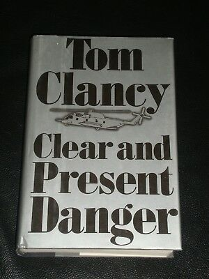 Clear and Present Danger by Tom Clancy (1989, Hardcover) FIRST EDITION