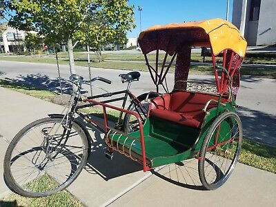 Antique Singapore Bicycle Trishaw - Fully Restored from original - Circa 1950's