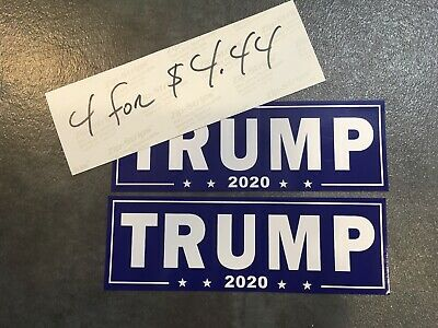 4 Trump MAGA MAKING KEEP AMERICA GREAT AGAIN 2020 Bumper sticker! USA KAG