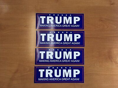 2 Trump MAGA MAKING AMERICA GREAT AGAIN plus 1 AMERICA FIRST bumper Stickers USA