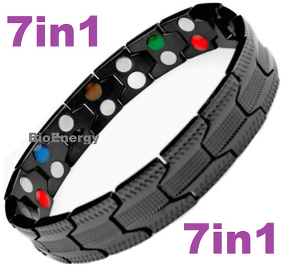 7in1 TITANIUM strong Magnetic Energy  Armband Power Bracelet Bio GERMANIUM 98746