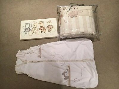 Mamas and Papas Once Upon A Time nursery bundle - picture, sleep bag, cot bumper