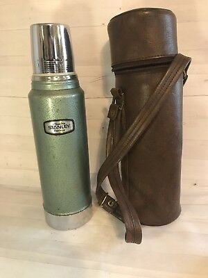 Vintage Aladdin Stanley A-944C Quart Lunch Thermos & Case Made In Usa