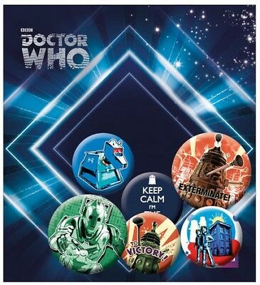 [GIW]  Gye Doctor Who Pin Badges 6-Pack Retro