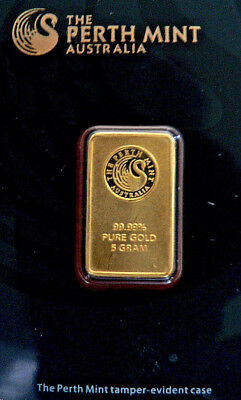 Perth Mint 5gm .9999 Pure Au Bullion Bar CertiCard #B609212 FREEPOST & TRACKING