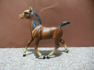 Breyer Running Foal Bay Brown Spice 134 with BLUE RIBBON STICKER Matte