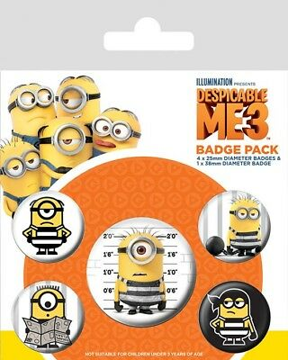 [GIW]  Pyramid International Despicable Me 3 Pin Badges 5-Pack Breakout