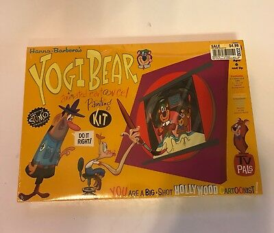 Vintage Hanna Barbera YOGI BEAR Animation Cartoon Cel Painting Kit SPUMCO Sealed