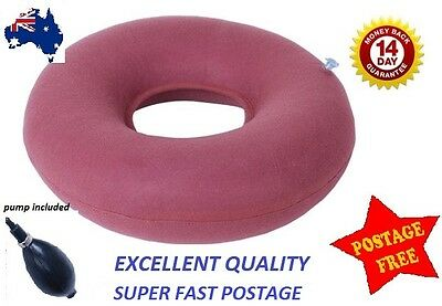 Inflatable donut ring cushion & pump for hemorrhoid, tailbone, wheelchair,birth