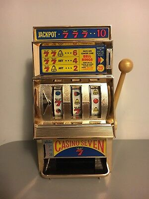 Vintage Waco Casino Seven 777 Slot Machine Bank Jackpot Bell Ring Made In Japan