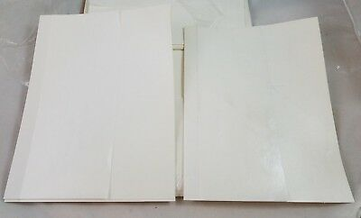 """Package White Paper End Sheets 25 Pairs 8.5"""" x 11"""" Book Binding Making Supplies"""