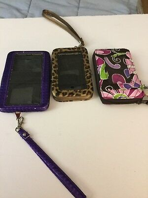 Set Of 3 Cell Phone And Credit Card And Money Holders With Straps