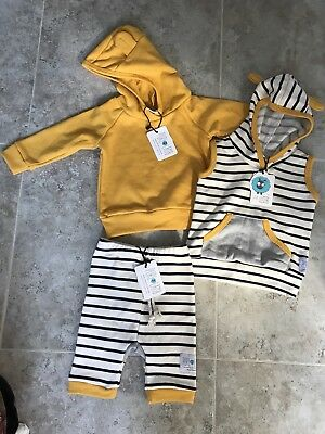 Purl Lamb 3 Piece Lot 6-12 Months Sweatshirt And Pants, Unisex