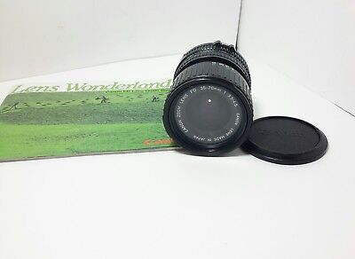 Canon FD 35-70mm 1:3.5-4.5 Zoom SLR Camera Lens with Macro - Vintage FD mount