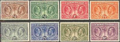 1932 Cayman Is. #69-76 George V Short Set of 8 Pictorial Issue