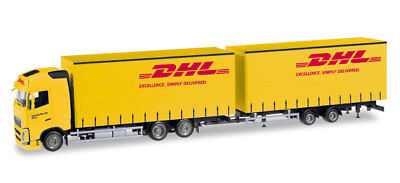 HO Scale Trucks - Volvo FH GL T/T Truck and Trailer -DHL