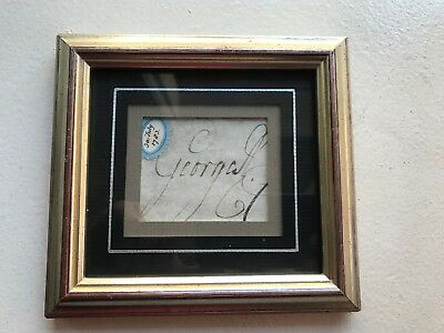 Royal King George III Cut Autograph Signed Framed