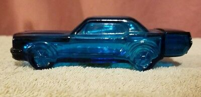 Beautiful AVON 64' Mustang After Shave Glass Bottle With Bottom Sticker