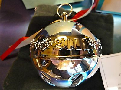 2011 **Wallace**Annual Silver-Plated Sleigh Bell Ornament**41st Ed* NEW IN BOX