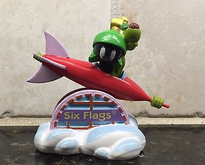 1997 Marvin Martian and K-9 Space Ship Six Flags PVC