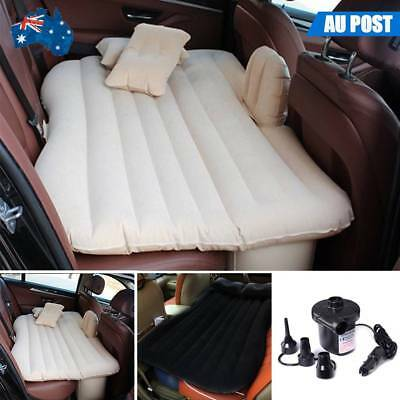 Car Inflatable Air Bed Mattress Back Rear Seat + 2 Pillows For Travel Camping AU