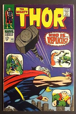 Thor #141 (Marvel 1967) F/VF By Stan Lee & Jack Kirby