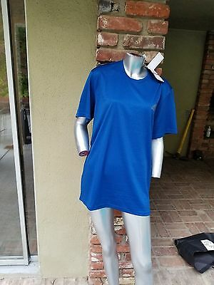Adidas climalite new with tag men's  blue t- shirt size L