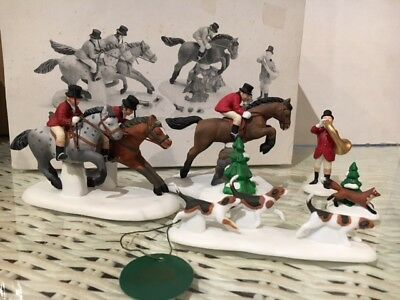 Department 56 Dickens Village TALLYHO!Tally Ho 5 figurines Heritage Village New