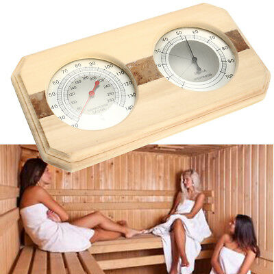 Wooden Sauna Hygrothermograph Thermometer Hygrometer Sauna Room Indoor Accessory