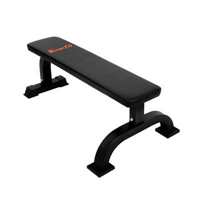 Fitness Flat Bench Weight Press Gym Home Strength Training Exercise-Black