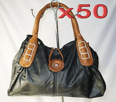 50pc Wholesale Large Women PU leather Shoulder Bag Handbag Clearance Sale